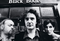 """""""Black Books"""" (2000-2004), the library loonies 1 image"""