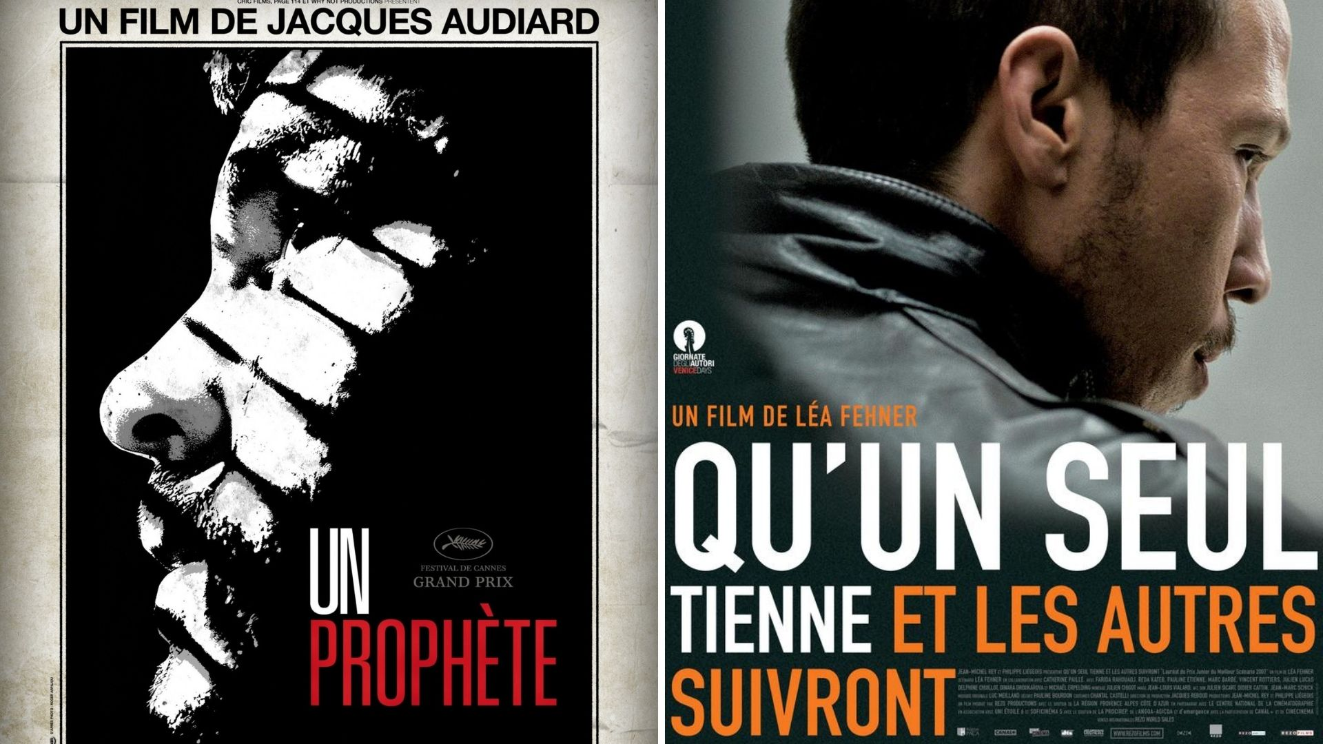 Un prophète et Qu'un seul tienne et les autres suivront affiches films cinéma