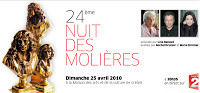 La Nuit des Molières 2010 : Le Palmarès 1 image