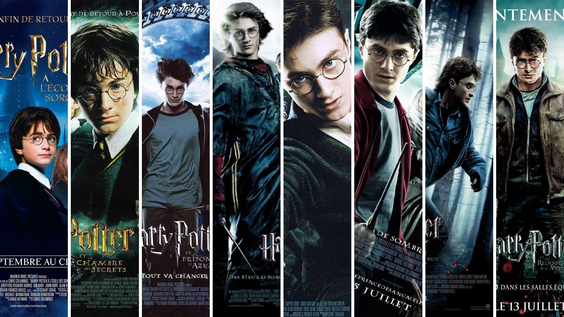 Harry Potter 1 à 8 affiches films cinéma