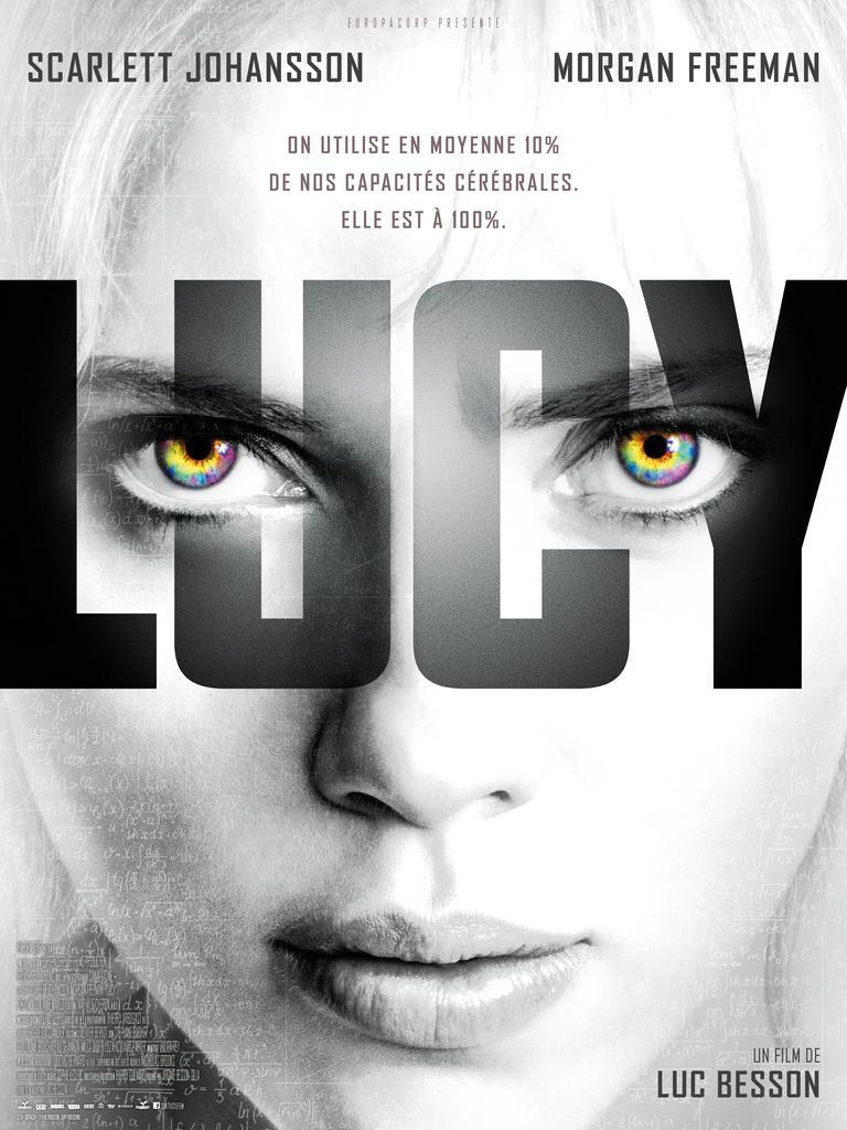 Lucy (2014) de Luc Besson affiche film cinéma