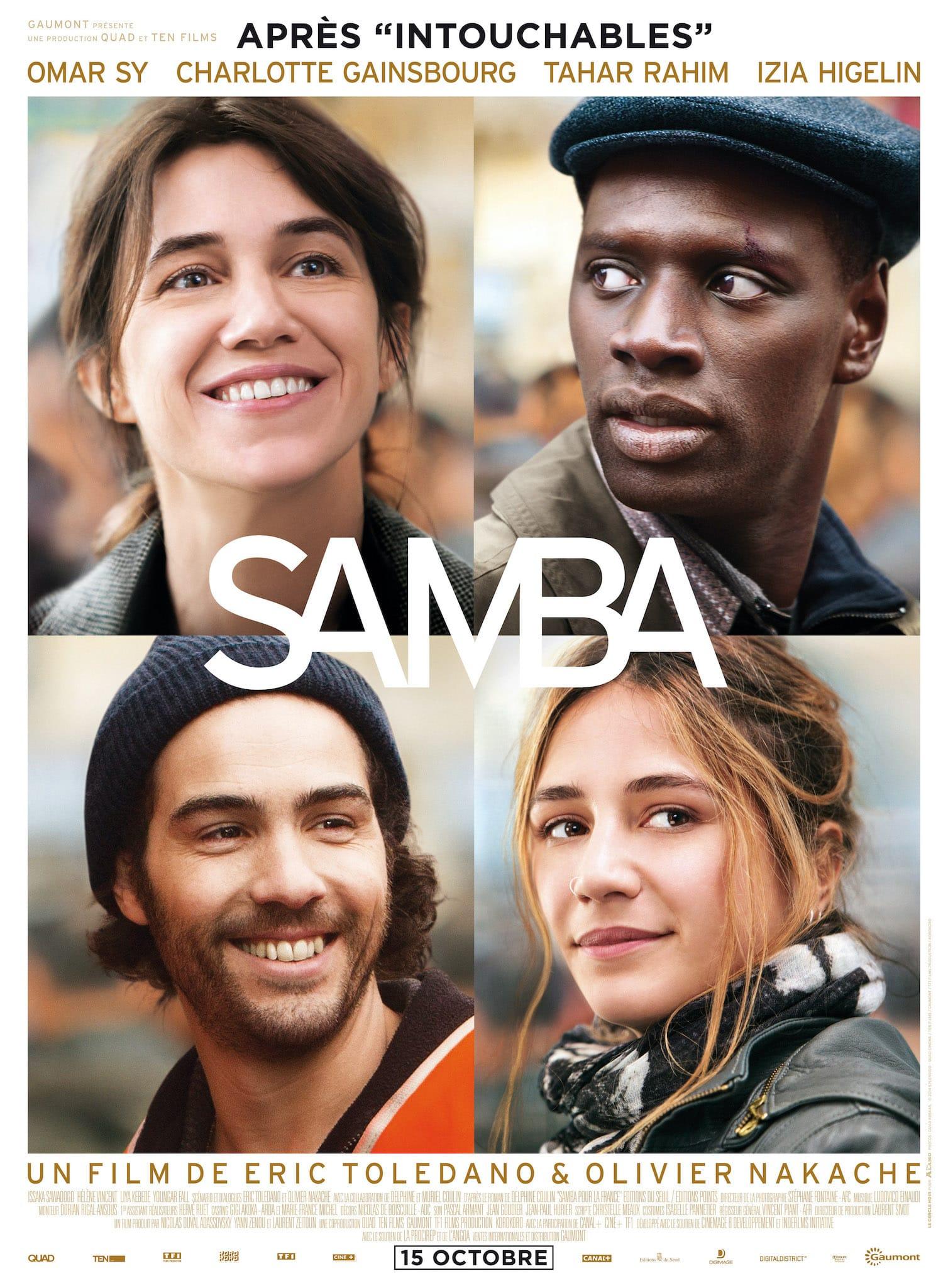 Samba d'Eric Toledano et Olivier Nakache affiche film cinéma