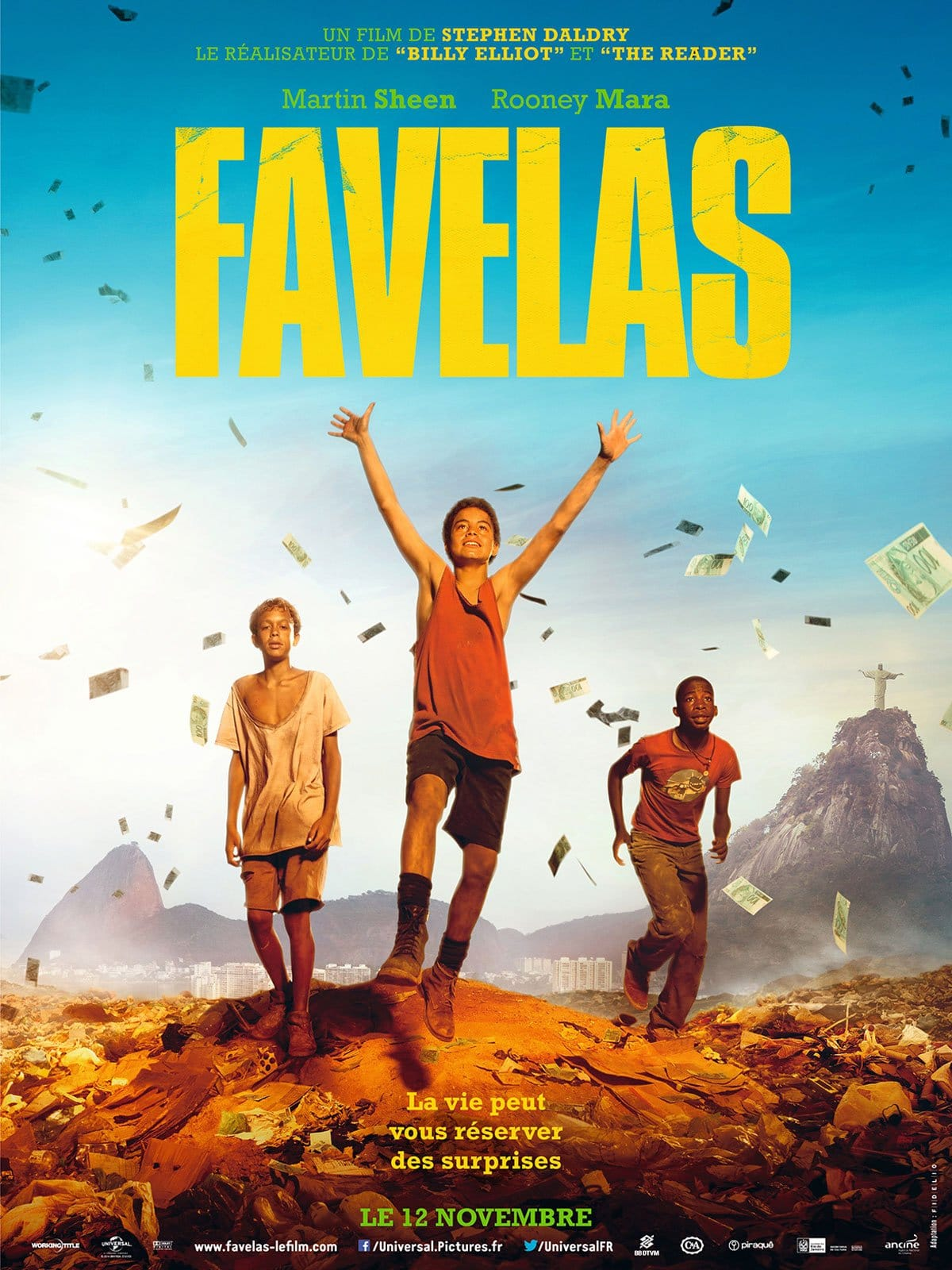 Favelas de Stephen Daldry affiche film cinéma