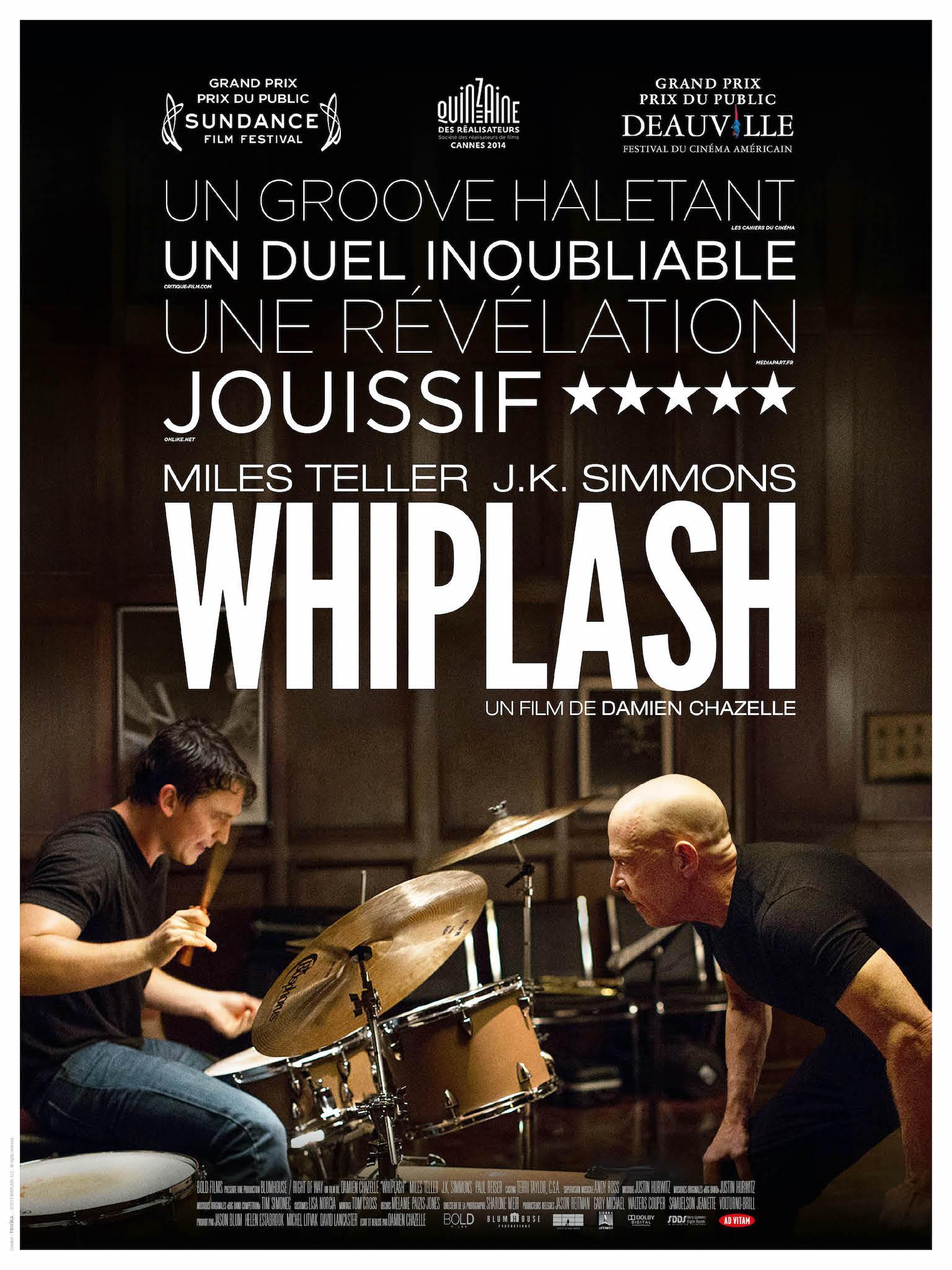 Whiplash de Damien Chazelle affiche film cinéma