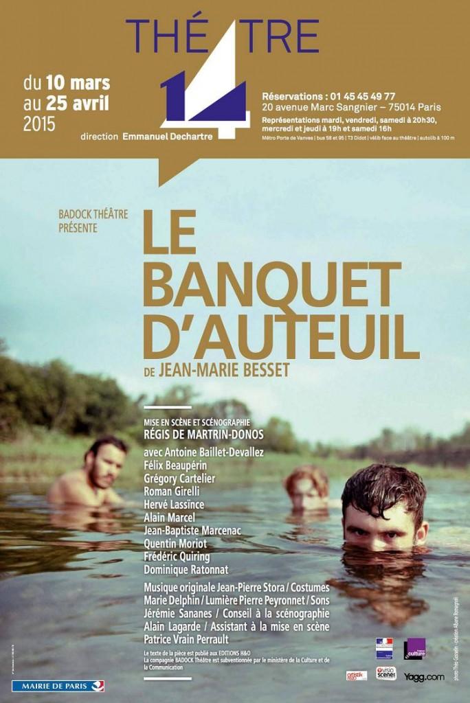 Le banquet d'Auteuil - affiche