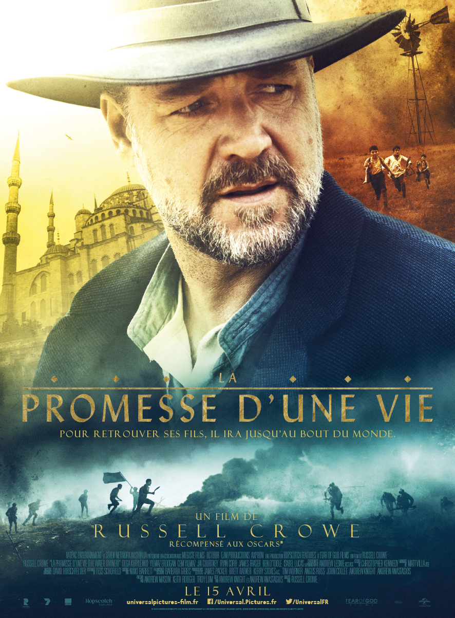 "<i>La Promesse d'une vie</i> (2015), du cinéma d'aventure ""old school"" / <i>The Water Diviner</i> (2015), ""old school"" adventure film 8 image"