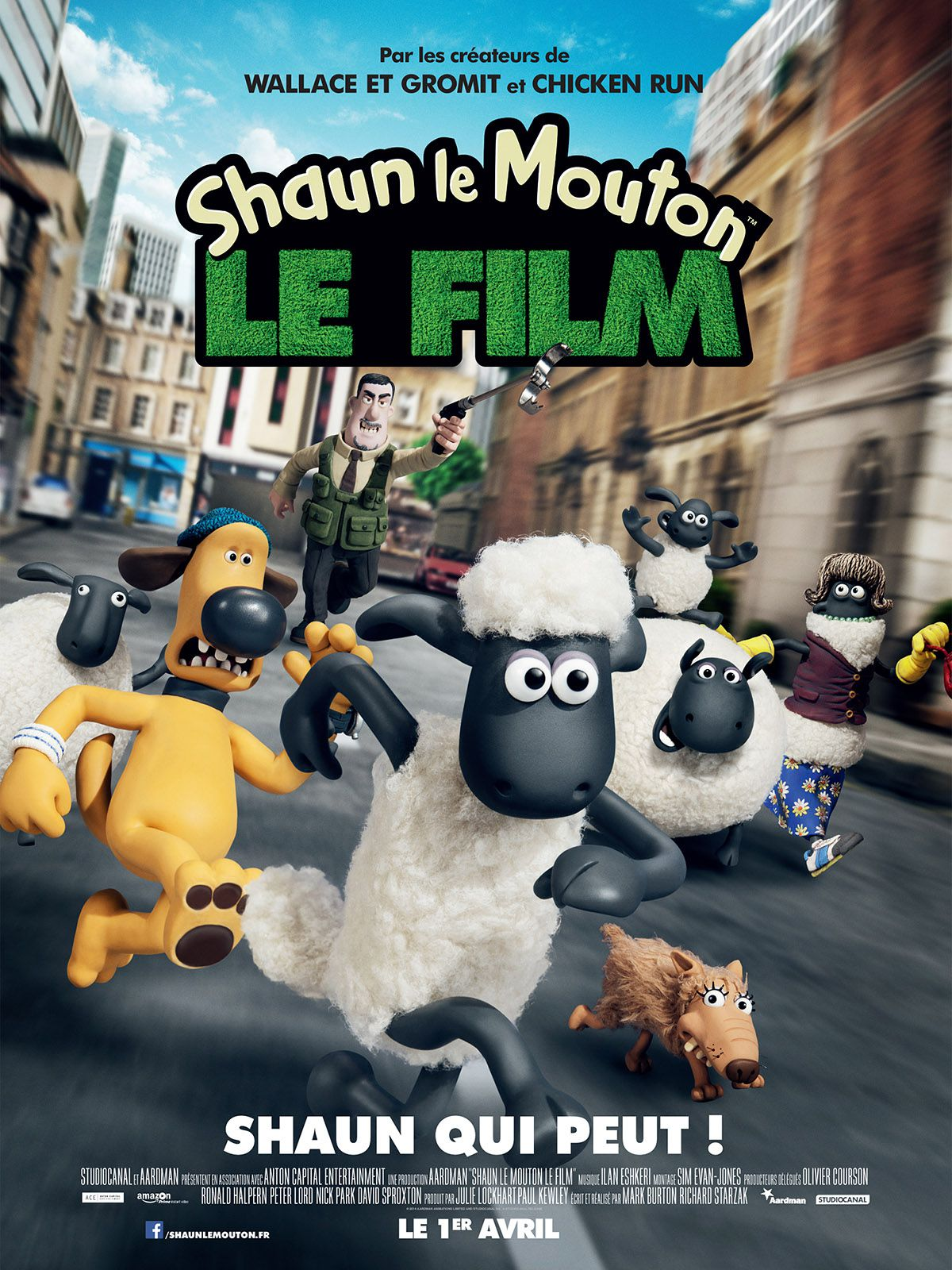 Shaun le mouton de Richard Starzak et Mark Burton affiche film animation cinéma