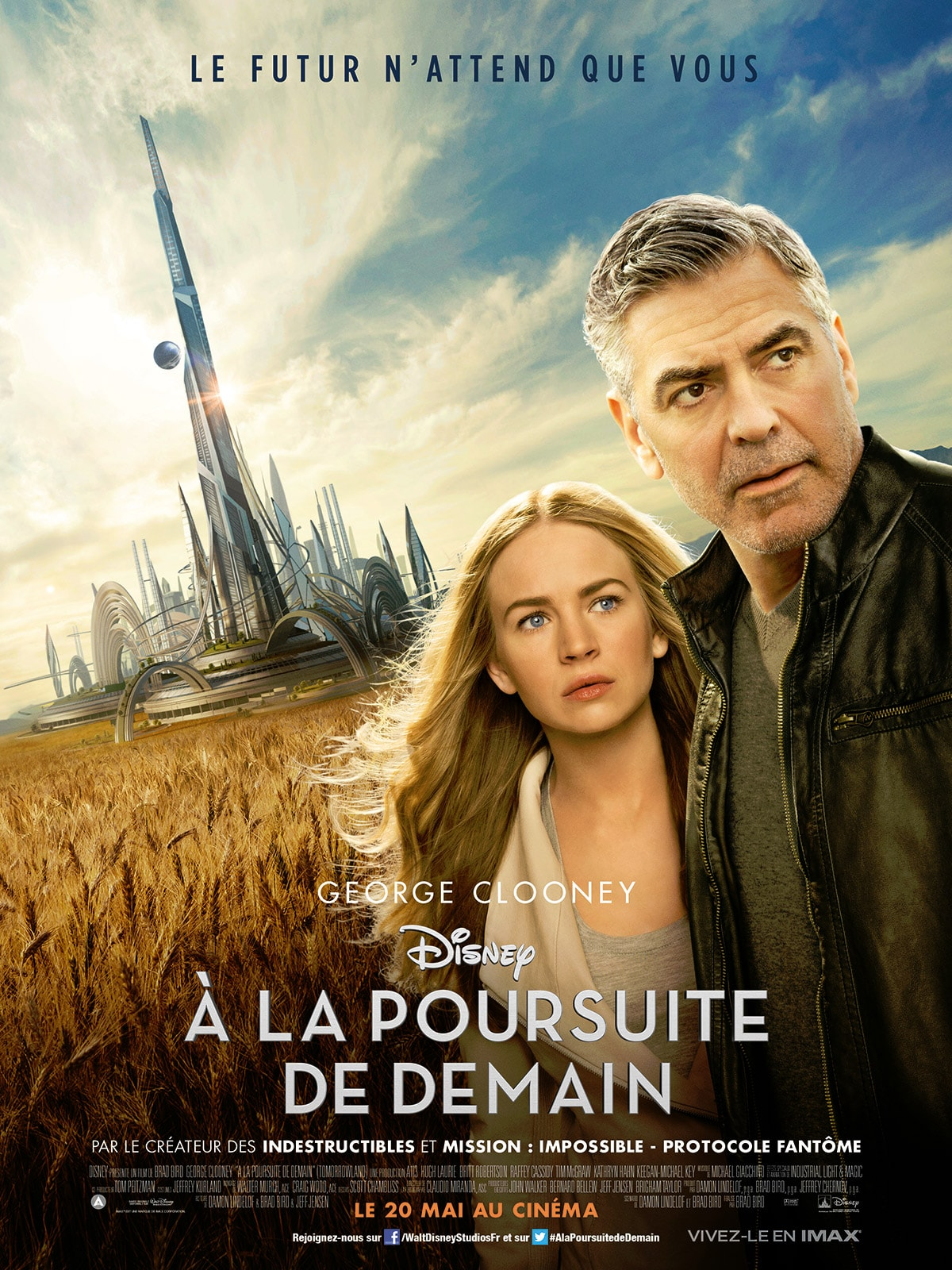 A la poursuite de demain de Brad Bird affiche film