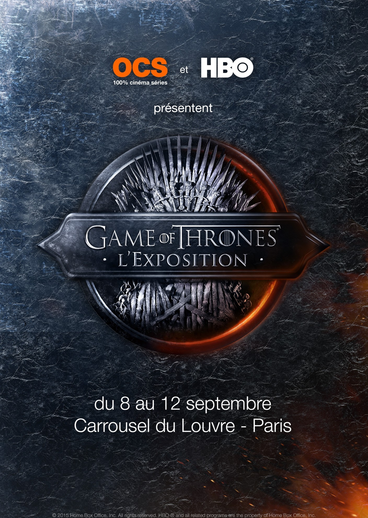Game of Thrones l'Exposition - affiche