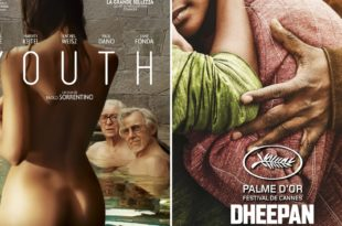 Youth de Paolo Sorrentino et Dheepan de Jacques Audiard affiches films cinéma