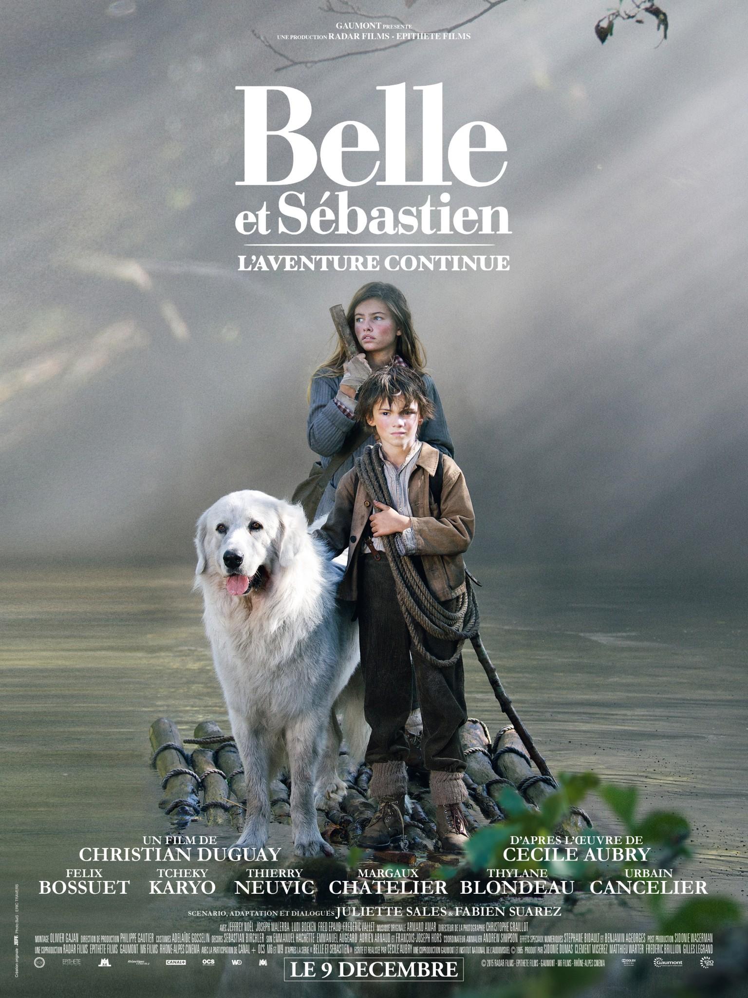 """Critique / """"Belle et Sébastien : l'aventure continue"""" (2015) de Christian Duguay 1 image"""