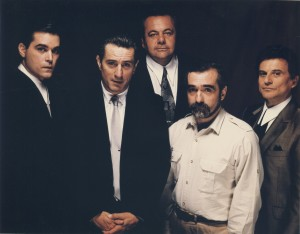 MartinScorsese-Lexposition-Goodfellas cast with MS