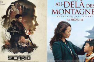 Sicario et Au-delà des montagnes affiches film cinéma