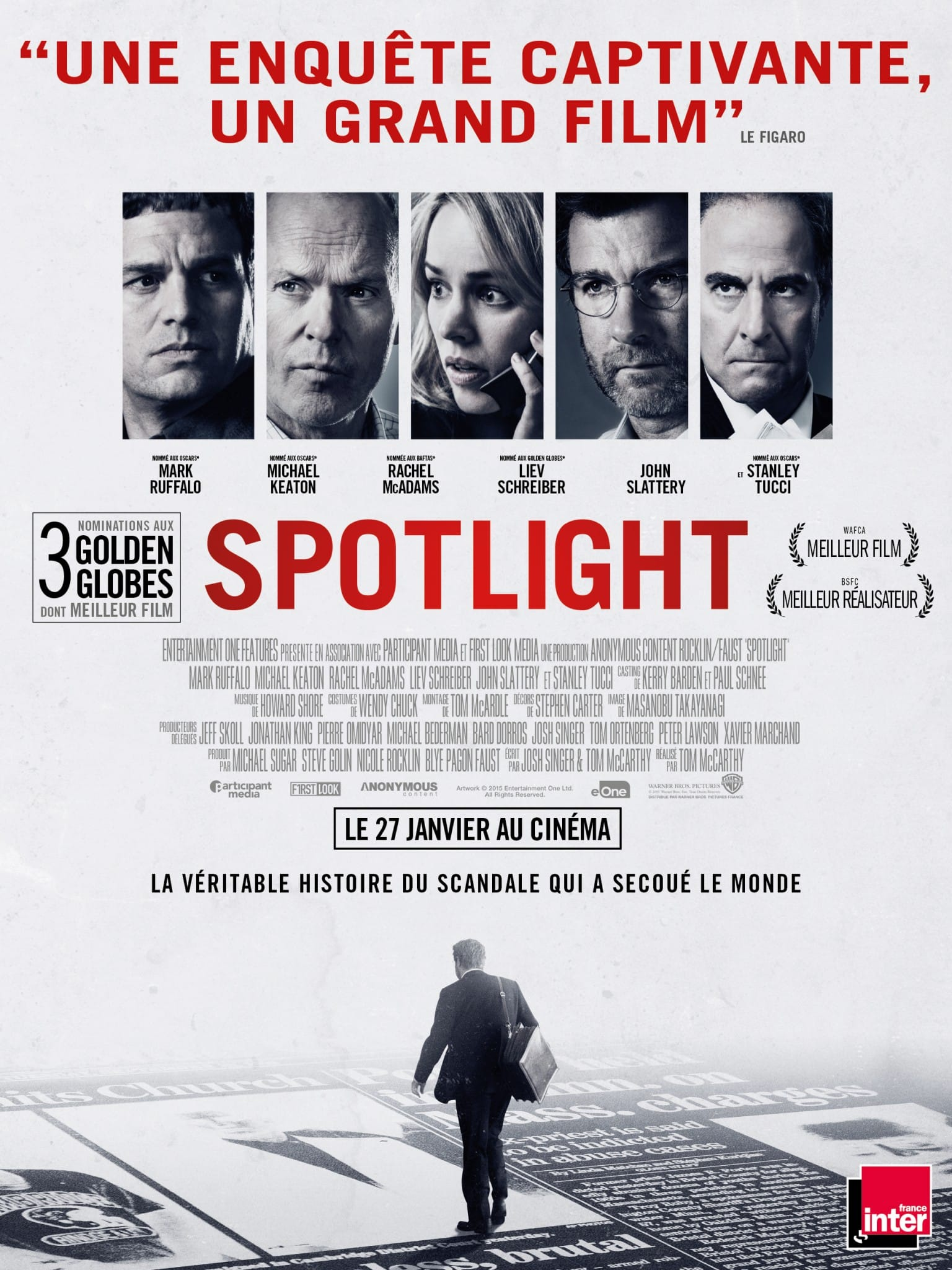 """♥ [Critique] """"Spotlight"""" (2015) : Au cœur d'un complot 1 image"""