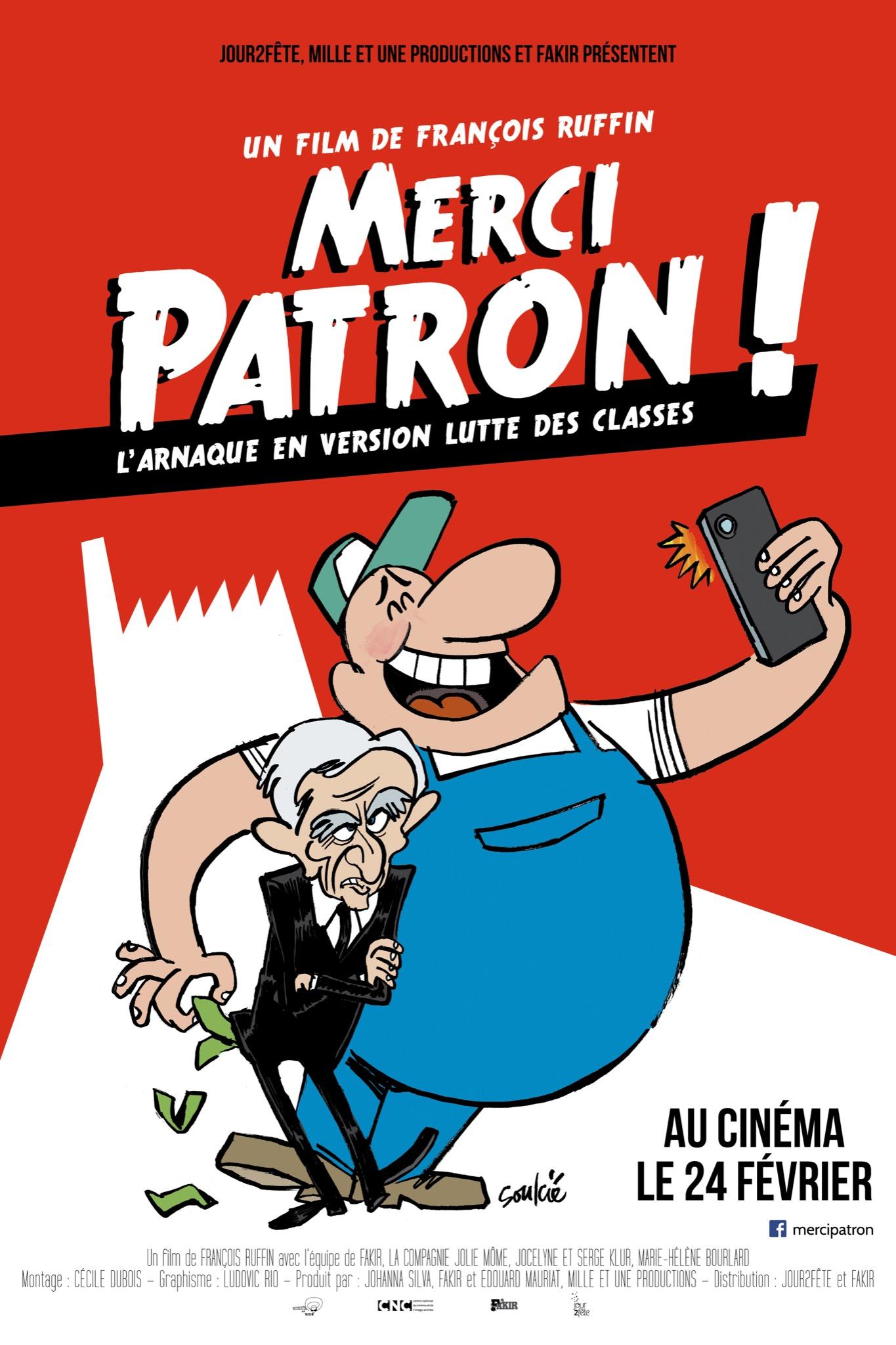 Affiche_merci patron_soulcie40X60 1