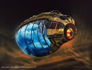 Jodorowsky's Dune_Spice Container, dessin préparatoire de Chris Foss pour Dune, 1975 copyright Chris Foss