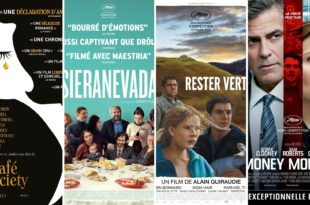 affiches Café Society, Sieranevada, Rester Vertical et Money Monster films cinéma
