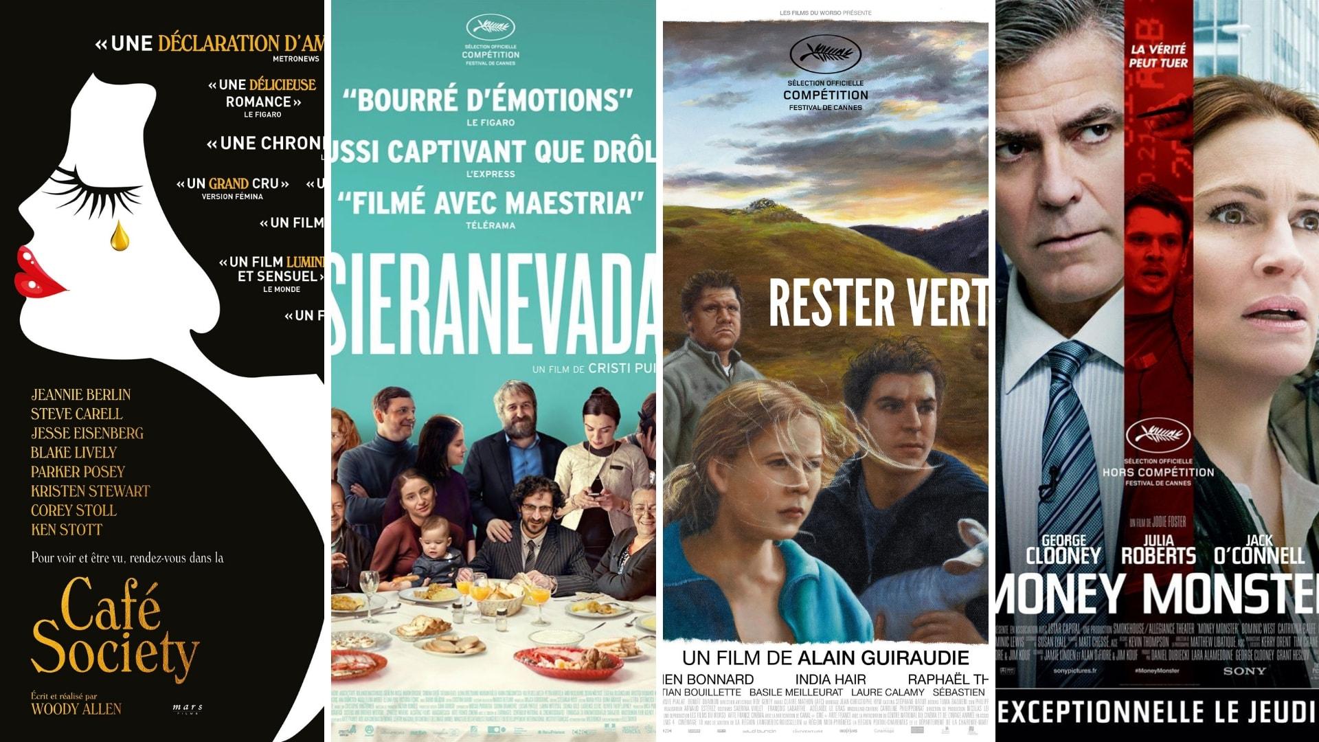 affiches Café Society, Sieranevada, Rester Vertical et Money Monster films cinéma