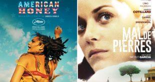 American Honey et Mal de pierres affiches films cinéma