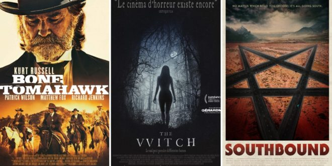 Bone Tomahawk - The Witch - Southbound affiches cinéma films