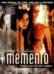 christopher nolan Memento affiche
