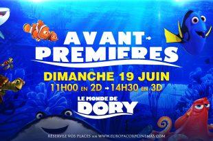 """[CONCOURS] """"Le Monde de Dory"""" (2016) à l'EuropaCorp CINEMA 1 image"""