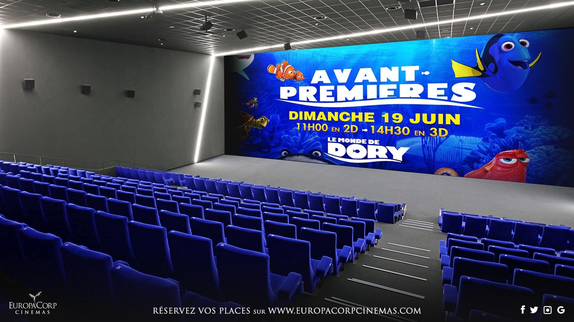 le monde de Dory-europacorp cinemas - affiche EuropaMax