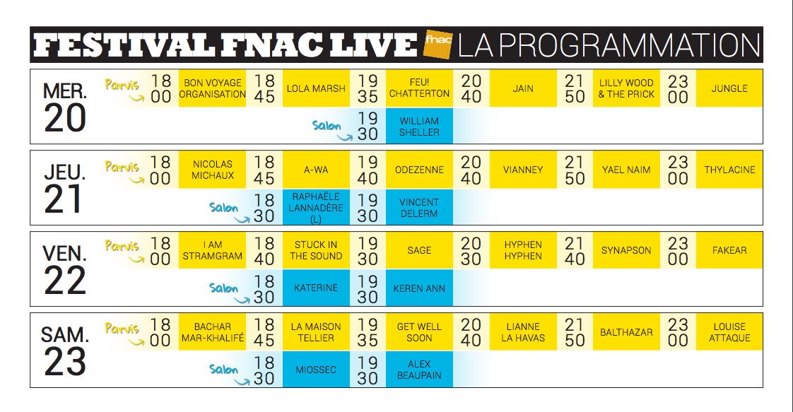 Fnac Live Festival 2016