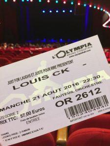 Louis C.K. billet Olympia