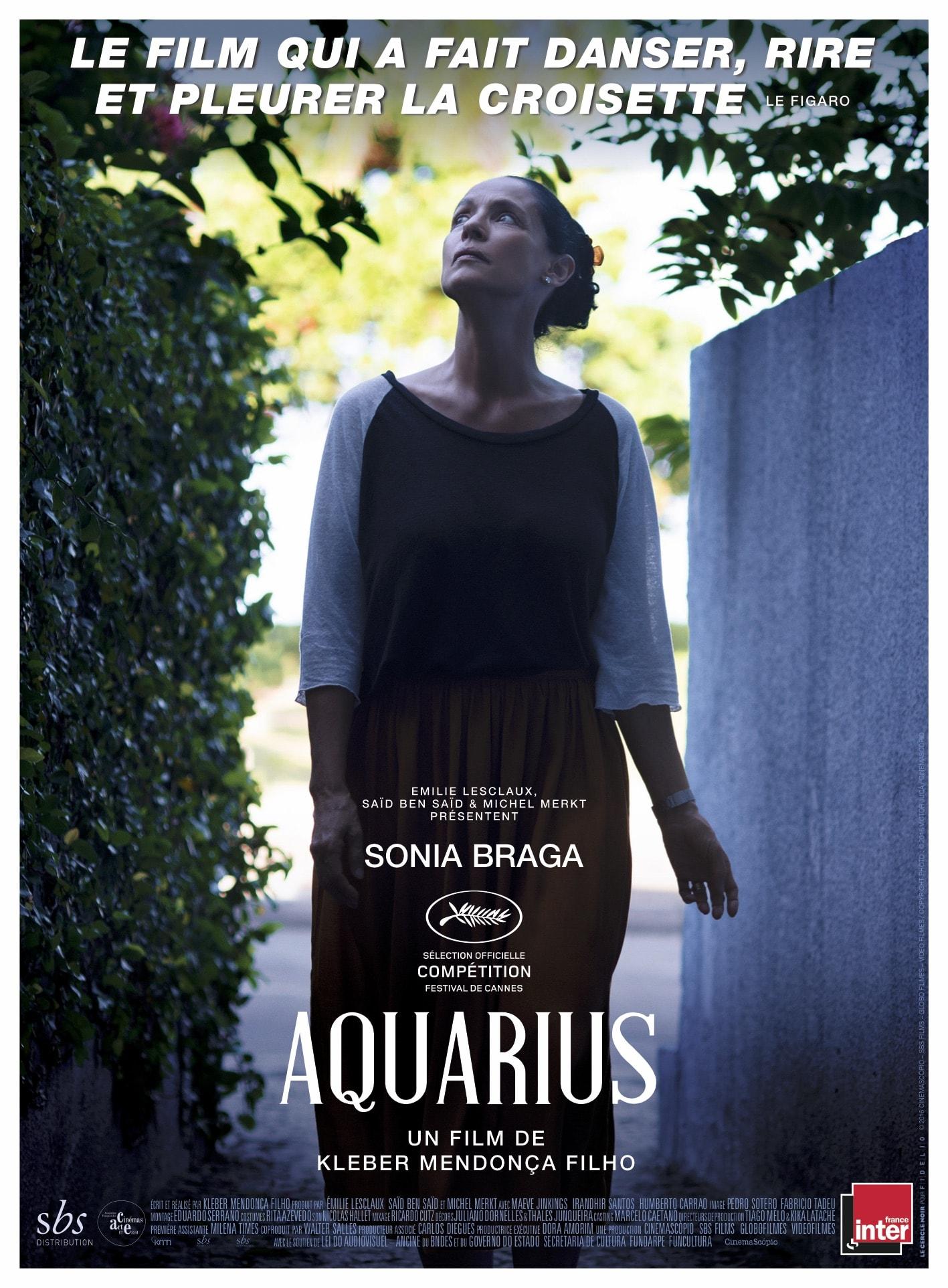 AQUARIUS de Kleber Mendonça Filho affiche film cinéma