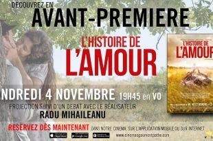 """[CONCOURS] """"L'Histoire de l'Amour"""" (2015), avant-première au Pathé Levallois en présence du réalisateur 1 image"""