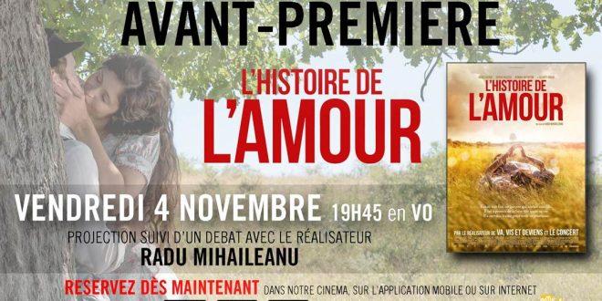 """Concours / """"L'Histoire de l'Amour"""" : avant-première au Pathé Levallois en présence du réalisateur 1 image"""