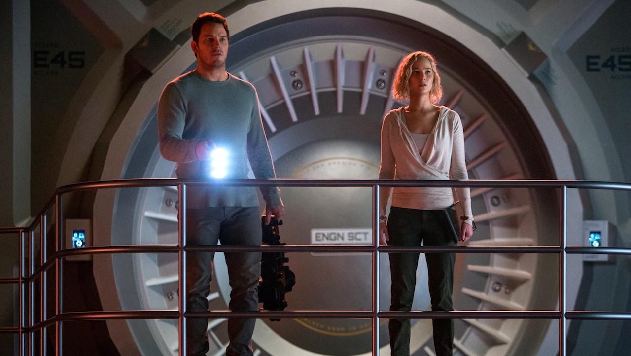 Chris Pratt; Jennifer Lawrence passengers photo