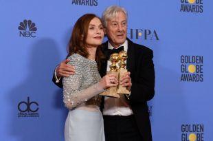 golden globes 2017 isabelle huppert Paul Verhoeven elle