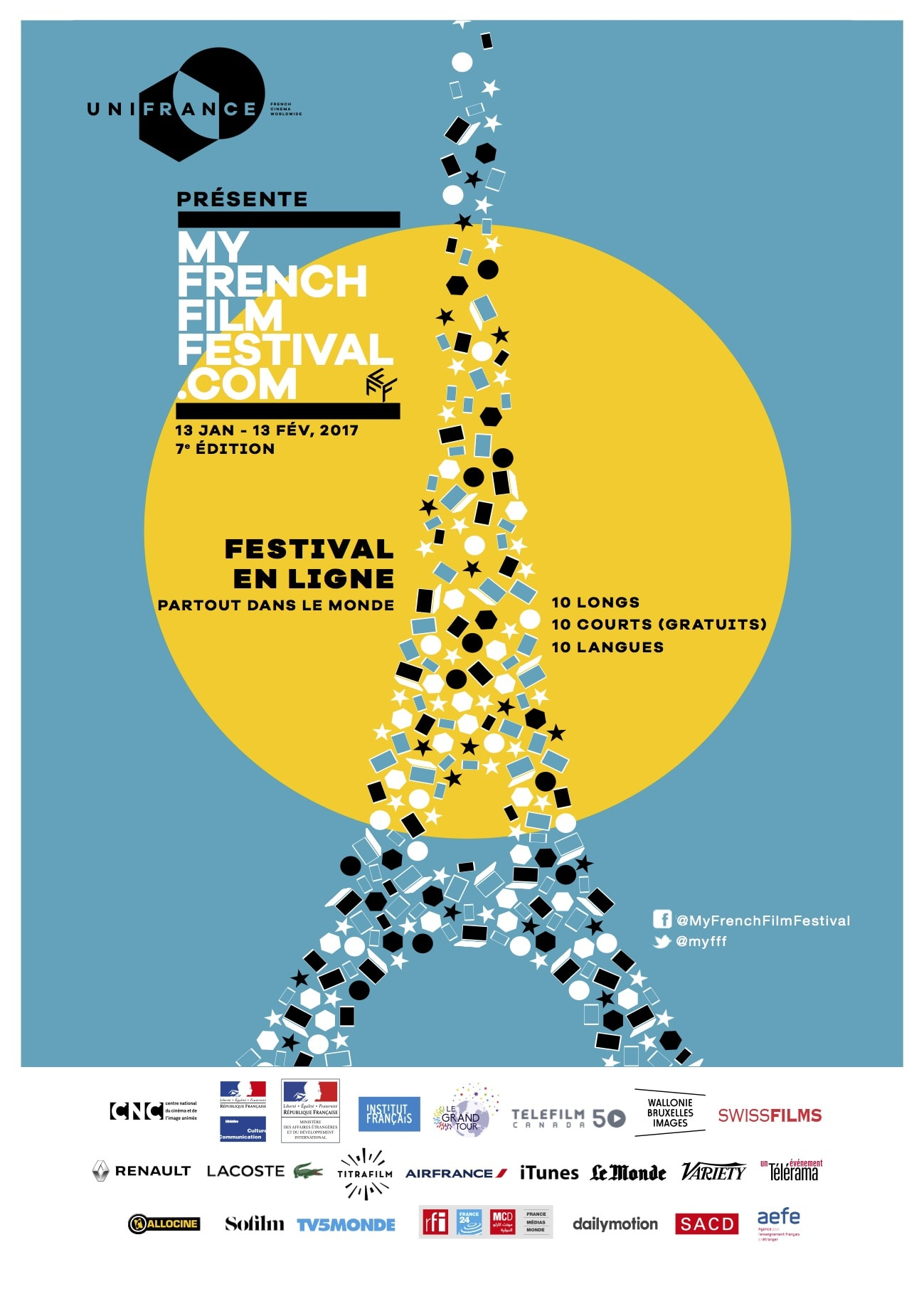 My French Film Festival 2017 affiche