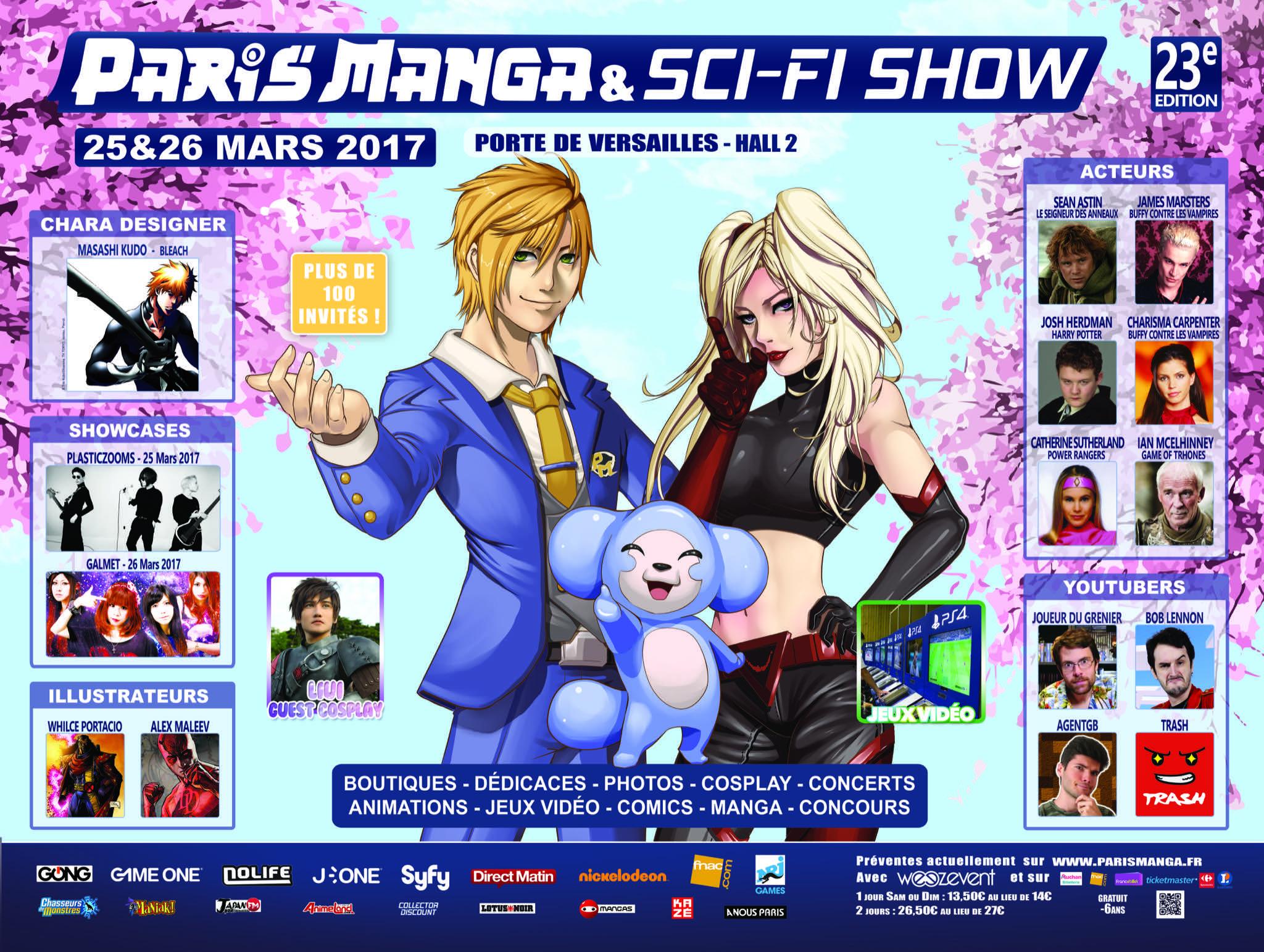 Paris Manga & Sci-Fi Show mars 2017 affiche