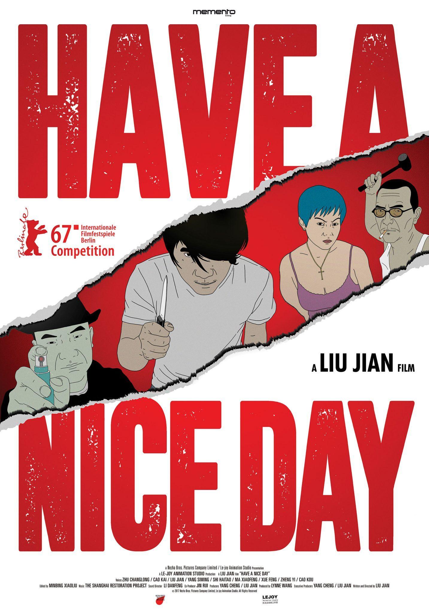 Festival international du film d'animation d'Annecy 2017 affiche Have A Nice Day
