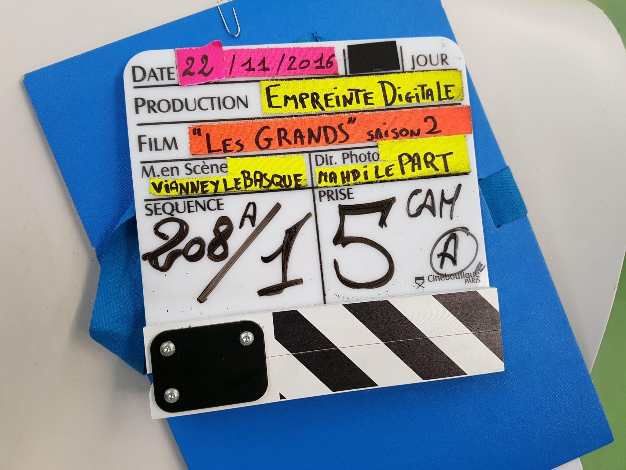 les grands saison 2 image tournage 3
