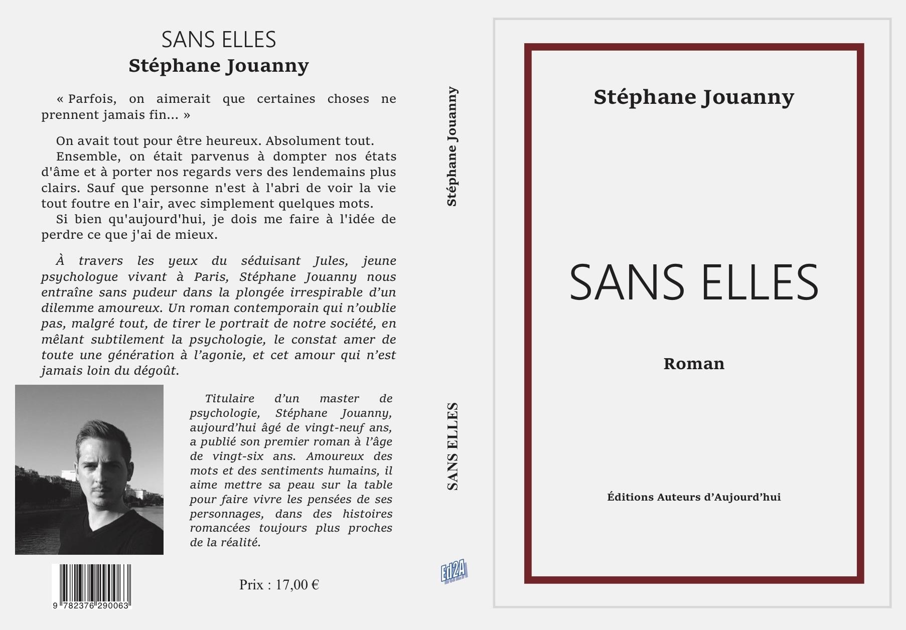 Sans elles Stéphane Jouanny image première et quatrième de couverture