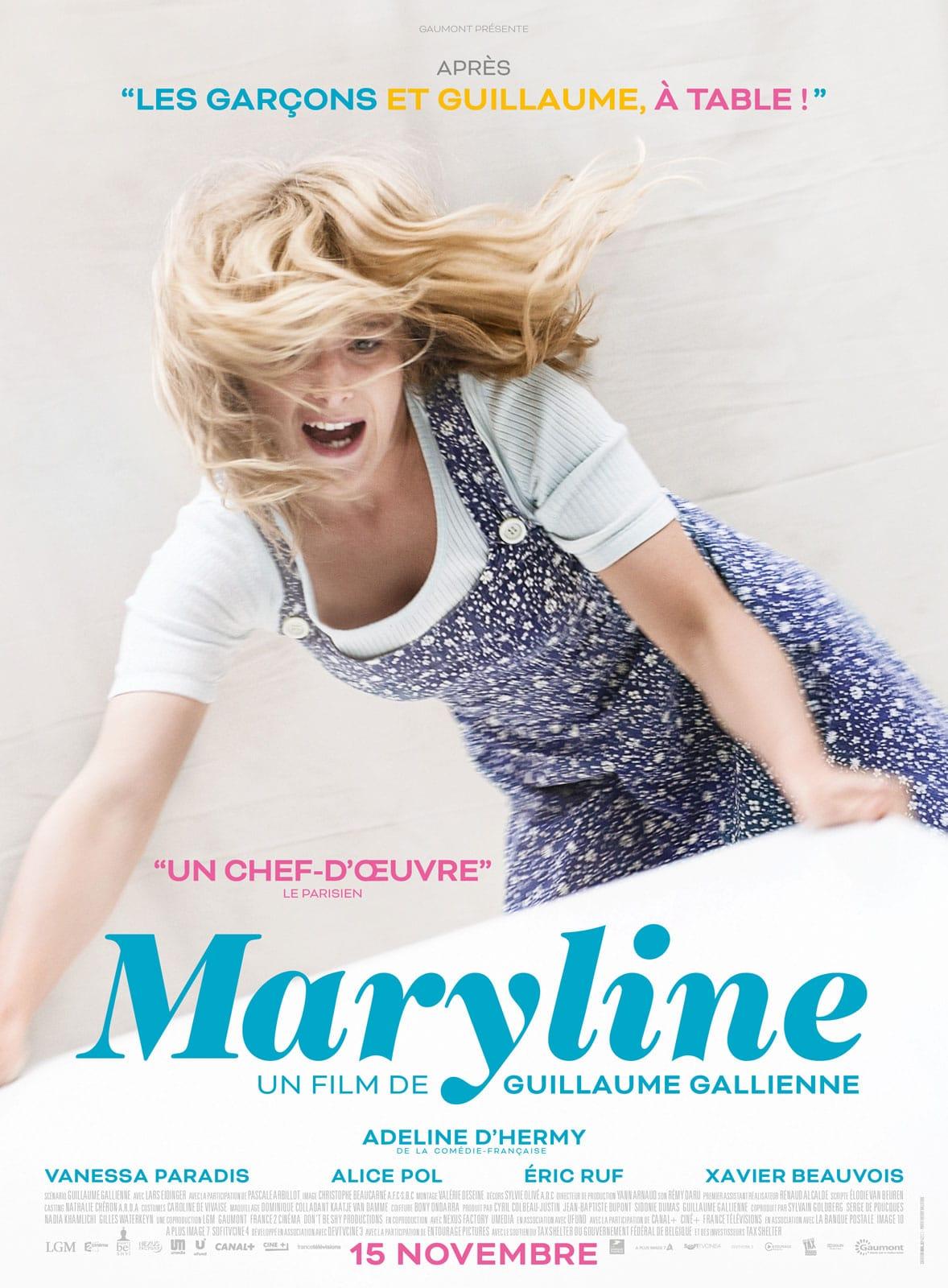 Maryline de Guillaume Gallienne affiche film cinéma