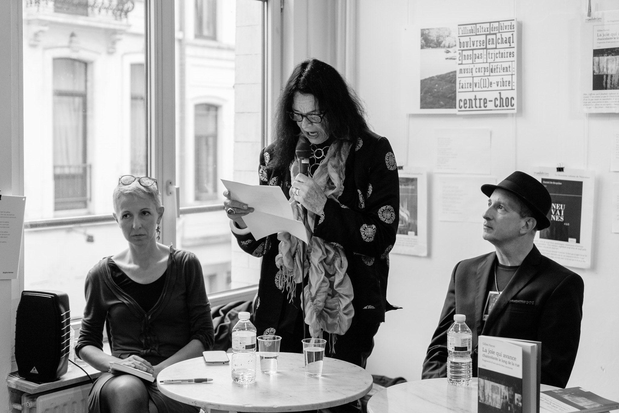 La Joie qui avance chancelante le long de la rue image GILLES FARCET et Anne Waldman (c) John Sellekaers fiEstival maelstrÖm reEvolution 2017 02