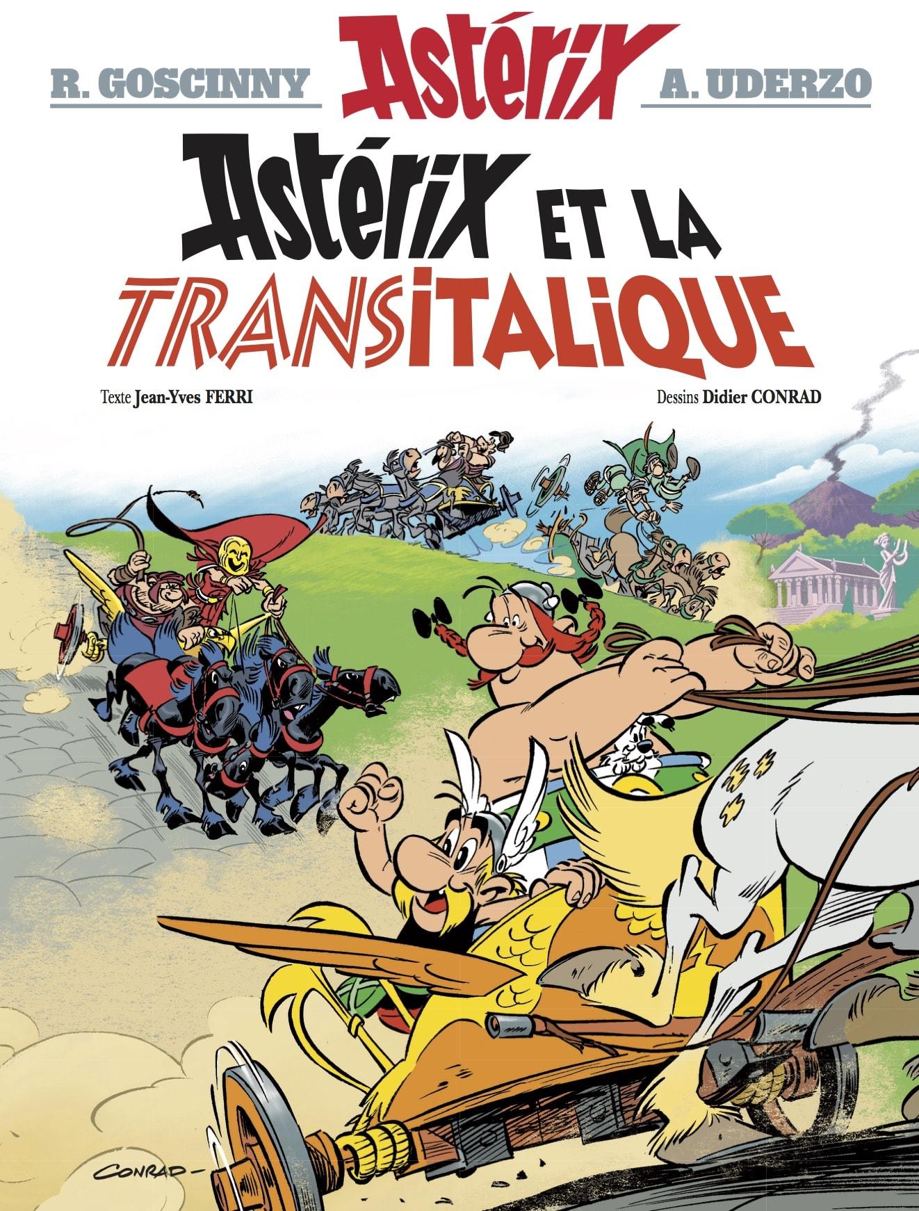"""Assez Astérix et la Transitalique"""" (2017) est le 37e album d'Astérix et  RJ86"""