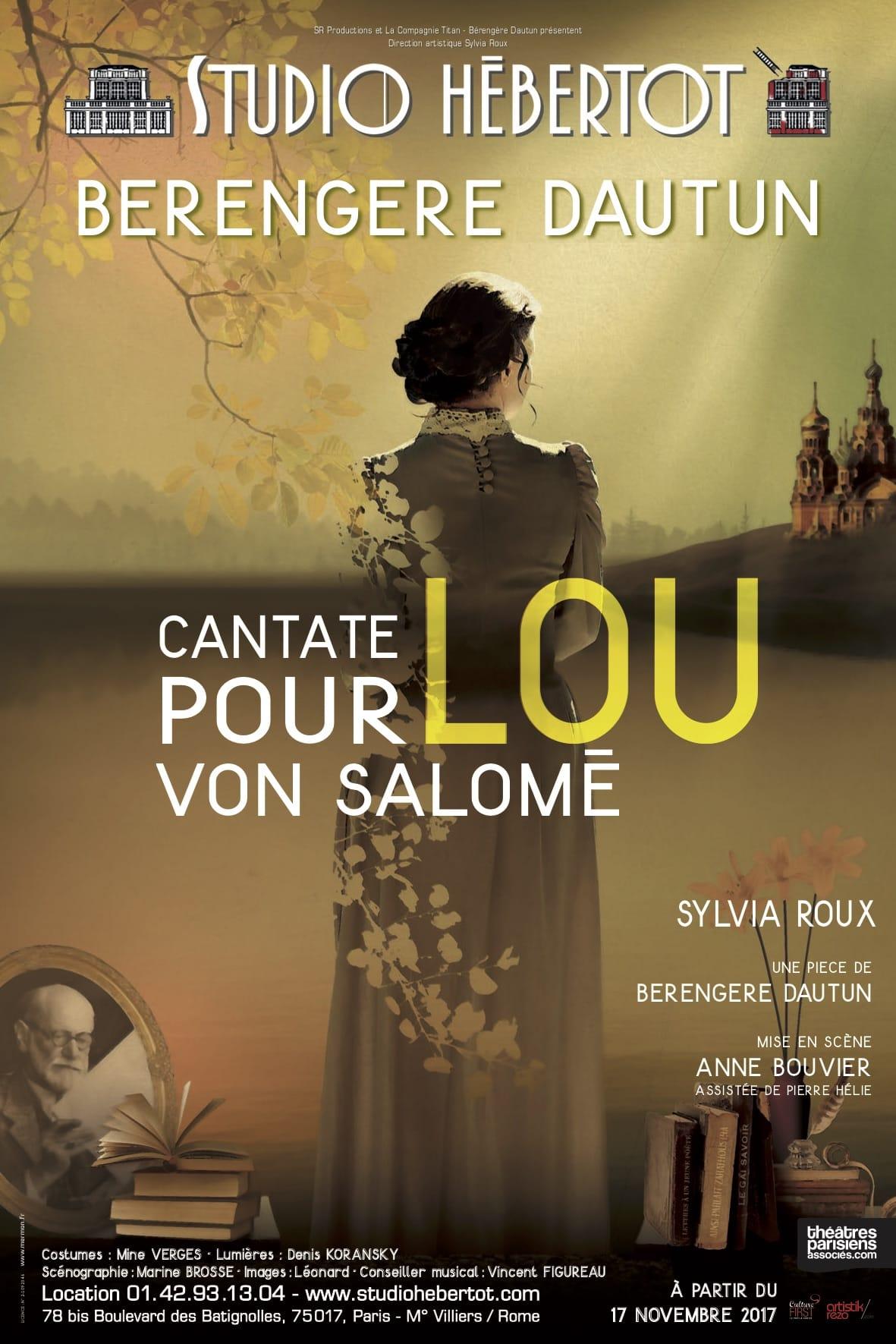 Cantate pour Lou von Salomé Anne Bouvier affiche