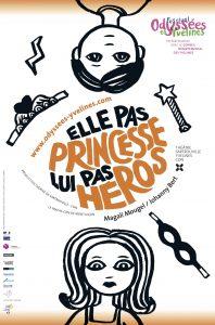 ELLE PAS PRINCESSE, LUI PAS HÉROS Johanny Bert affiche
