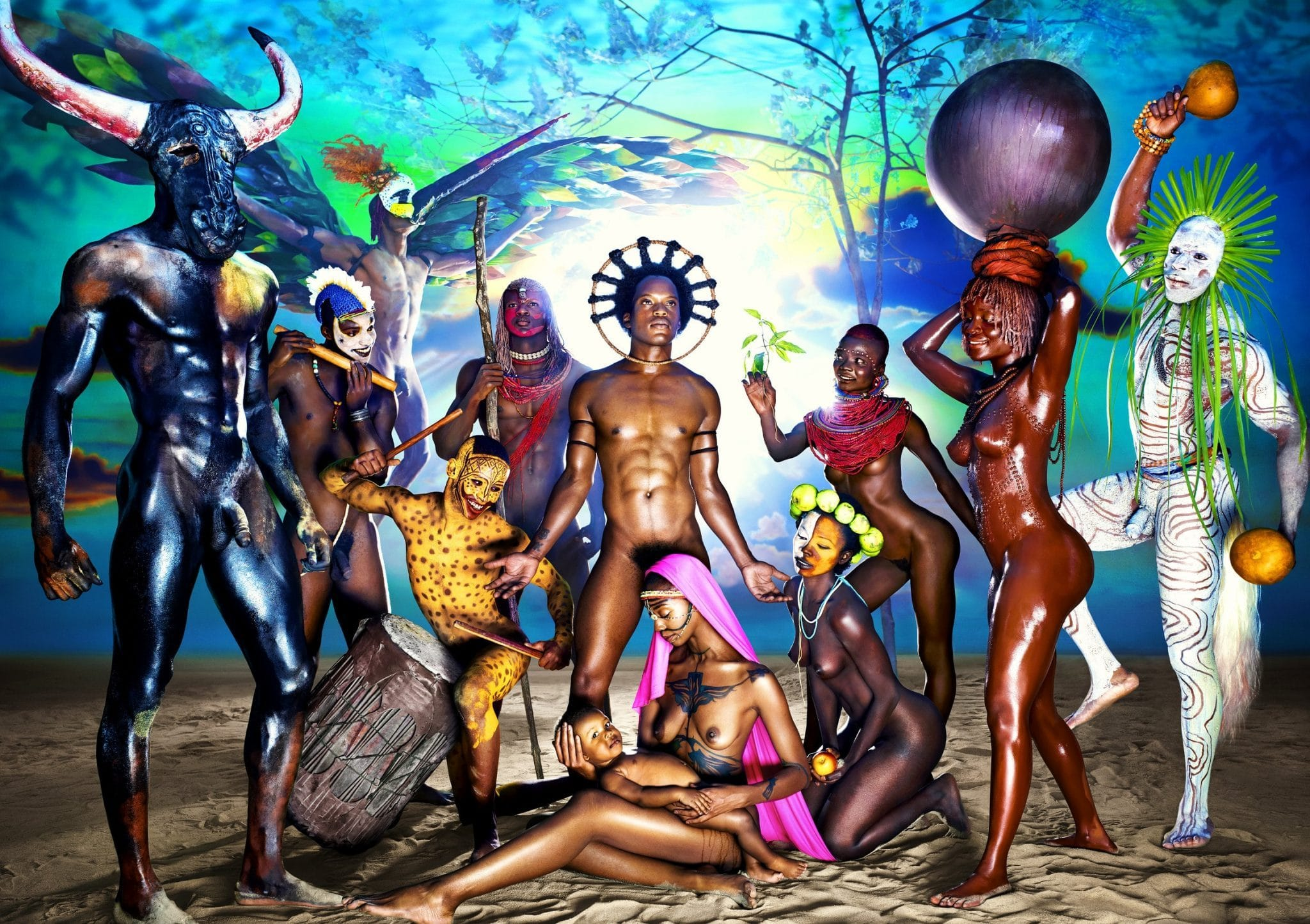 Exposition David LaChapelle. After the deluge — Bam Mons image Nativity, 2012