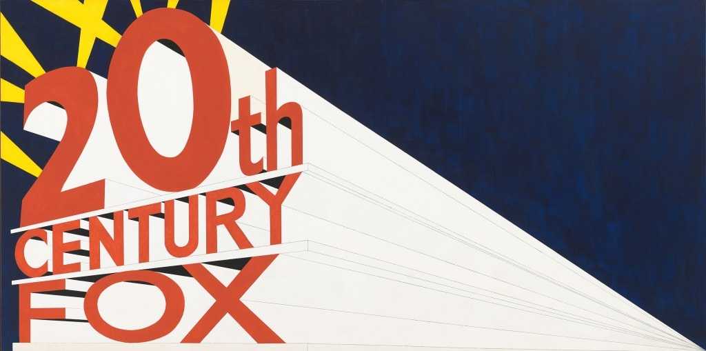 POP ART - ICONS THAT MATTER. COLLECTION DU WHITNEY MUSEUM OF AMERICAN ART image Edward Ruscha, Large Trademark with Eight Spotlights