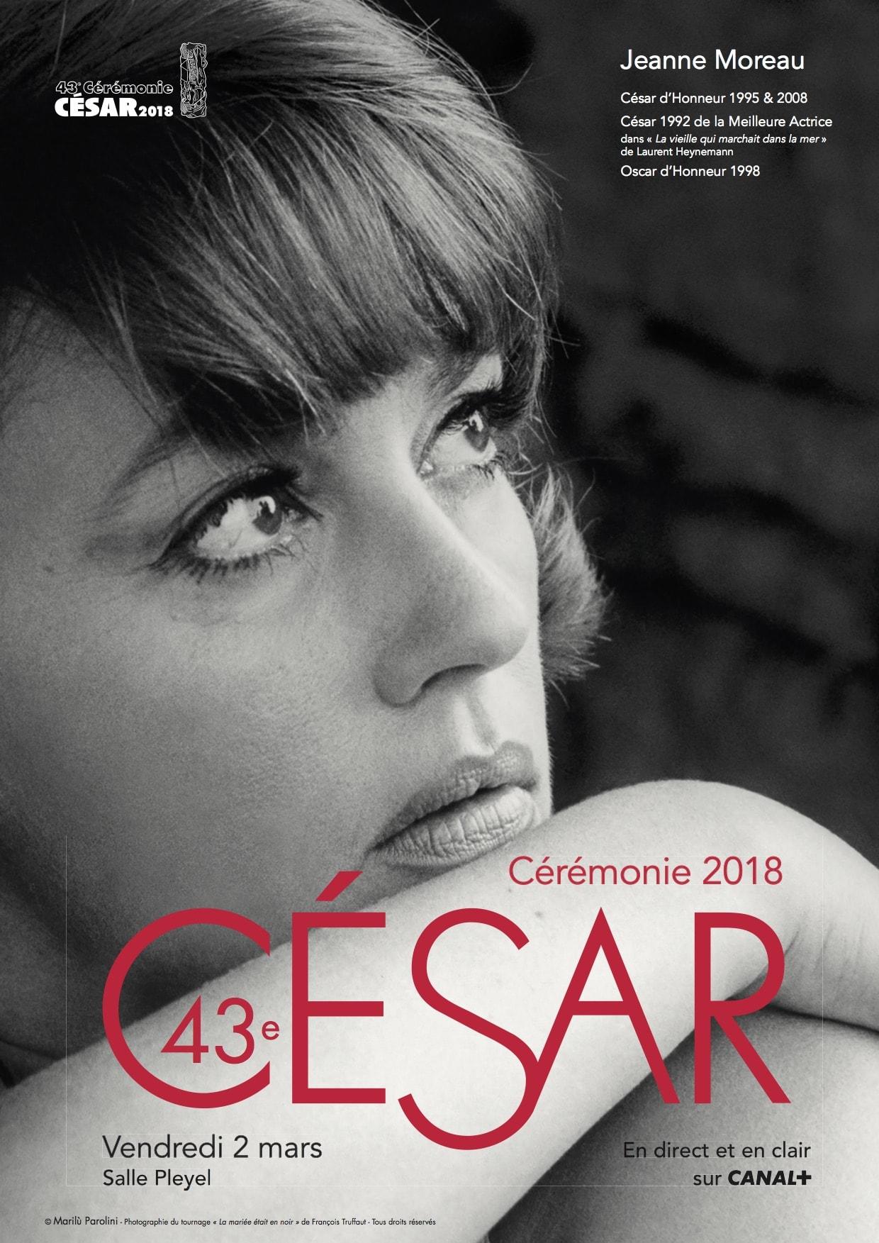 CESAR 2018 affiche officielle cérémonie
