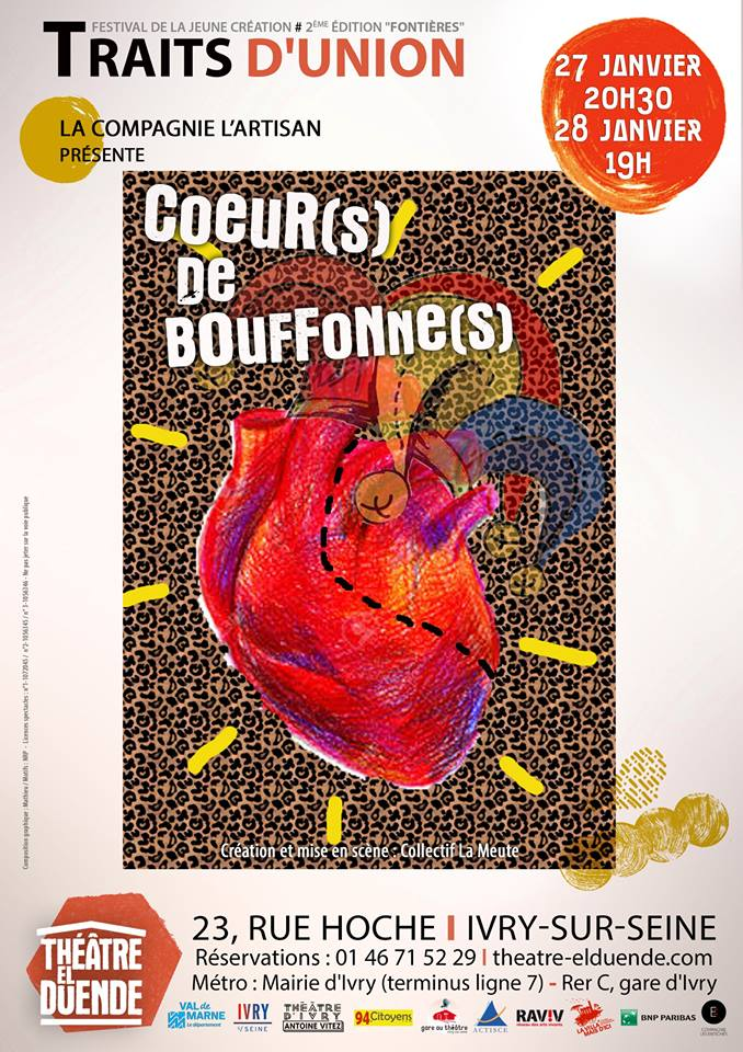 Traits d'union 2018 image Cœur(s) de bouffonne(s) Collectif La Meute
