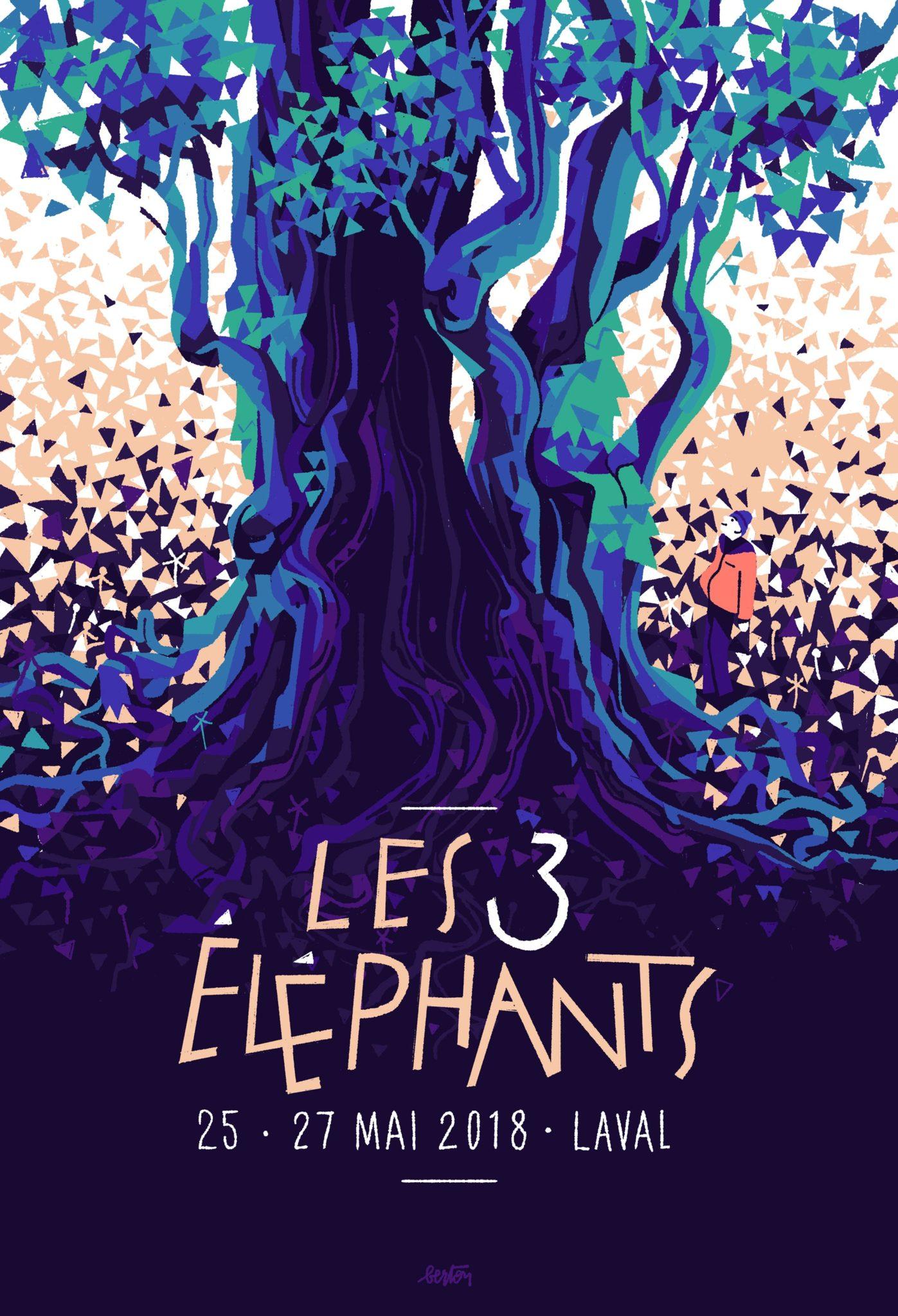Festival Les 3 éléphants 2018 affiche