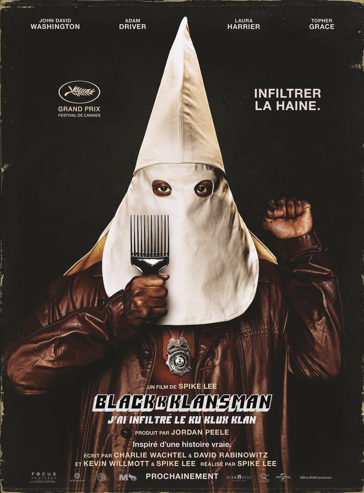 BlacKkKlansman (2018) de Spike Lee affiche film cinéma